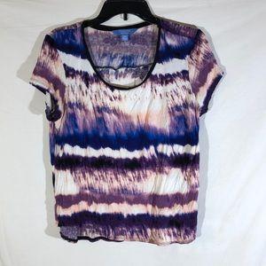 Simply Vera by Vera Wang Multi-color Stripe Blouse